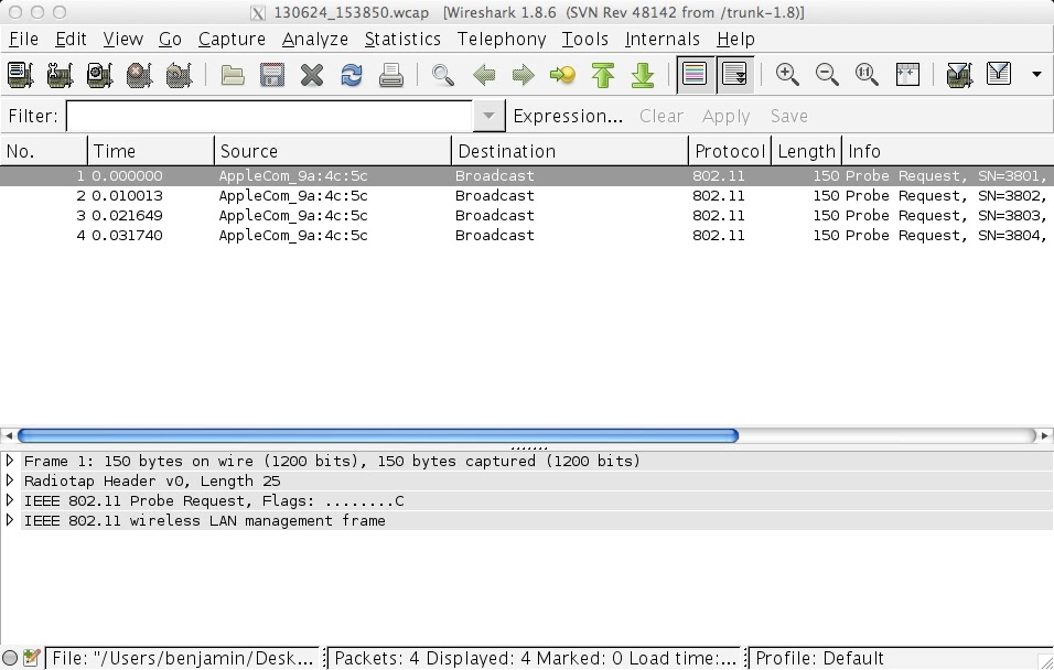 Wireshark | sniffwifi