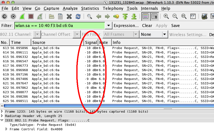 how to detect wifi signal strength